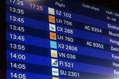 Flight timetable Stock Photos