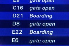 Flight timetable Royalty Free Stock Photos
