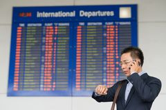 Flight timetable Stock Photos