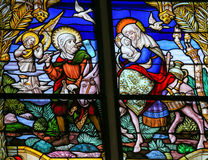 Flight to Egypt - Stained Glass Royalty Free Stock Photography