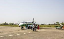 Flight to kathmandu Royalty Free Stock Photo