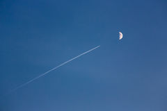 Flight to the moon Royalty Free Stock Photos