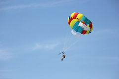 Flight to the parachute. Stock Image