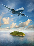 Flight to paradise Stock Image
