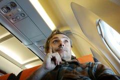 Flight traveler Royalty Free Stock Photo