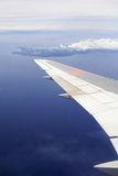 Flight view. View Outdoor of a Plane Stock Image