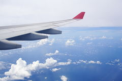 Flight view. View Outdoor of a Plane Royalty Free Stock Images