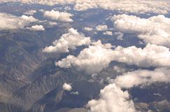 Flight view of Qinghai-Tibet Plateau Royalty Free Stock Photography