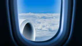 In flight stock video