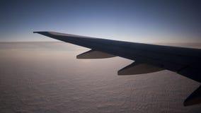 Flight wing. Mid flight hellas Stock Photo