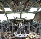 Flightdeck毁坏了 免版税库存照片