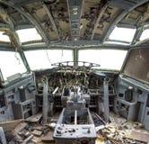 Flightdeck ha distrutto fotografie stock libere da diritti