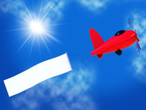 Flights Banner Shows Blank Space And Air Royalty Free Stock Images