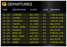 Flights departures board Stock Image
