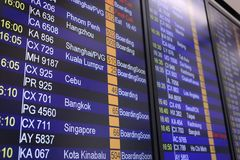 Flights departures board Stock Images
