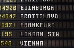 Flights in Europe Stock Image