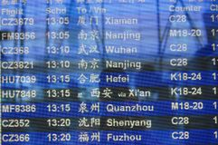 The flights information board Royalty Free Stock Images