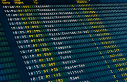 Flights information board Stock Images