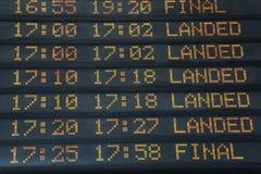 Flights information board Royalty Free Stock Photography