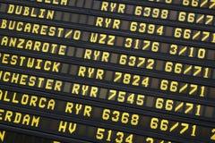 Flights information display Royalty Free Stock Image