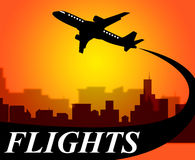 Flights Plane Shows Go On Leave And Aeroplane Royalty Free Stock Photography