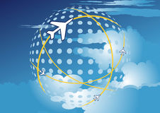 Flights in the sky. Vector illustration of flights in the sky Royalty Free Stock Images
