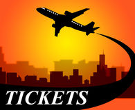 Flights Tickets Represents Aviation Transport And Travel Royalty Free Stock Photography