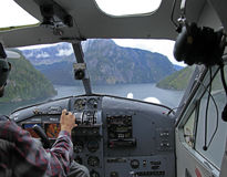 Flightseeing Misty Fjords foto de stock