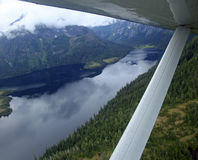 Flightseeing Misty Fjords Royalty Free Stock Photography