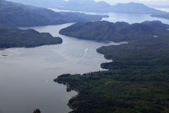Flightseeing Misty Fjords. Out of Ketchikan Alaska Royalty Free Stock Photo