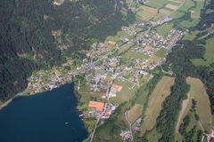 Flightseeing Tour Carinthia Feld/See Lake Brennsee Bird's Eye View Royalty Free Stock Photography