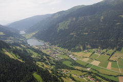 Flightseeing Tour Carinthia Feld/See Lake Brennsee Lake Afritz Bird's Eye View Stock Image