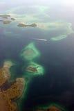 Fligth de Panama City al del Toro de Bocas Fotografía de archivo libre de regalías