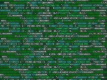 Flikkerende kleurrijke bakcground van de programmacode Royalty-vrije Stock Fotografie