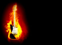 Flime guitare Royalty Free Stock Images