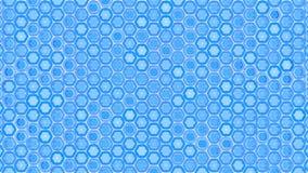 Flimrande bakgrund för abstrakt geometrisk grafisk sömlös blå sexhörningsmodell vektor illustrationer