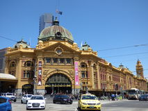 Flinder's Station. The Melbournian Flinder's Station on a sunny spring day Royalty Free Stock Photography