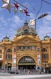 flinders Melbourne stacyjna ulica Obrazy Royalty Free