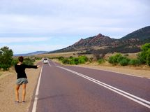 Flinders Rangers Hitchhiking Royalty Free Stock Images