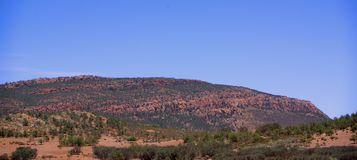 Flinders Ranges at Quorn. Photograph taken of the Flinders Rangers from a car travelling north from Quorn (Outback Australia stock images