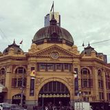 Flinders Stacyjny Melbourne Zdjęcia Royalty Free
