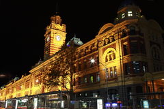 Flinders Station. In Melbourne, Australia Stock Photos