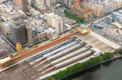 Flinders Station aerial view, Melbourne Stock Image