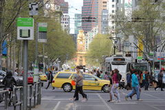 Flinders station Melbourne cityscape  Royalty Free Stock Image