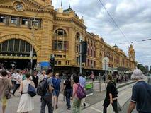 Flinders station. At Melbourne, Australia Royalty Free Stock Images