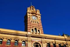 Flinders-Straßen-Station Melbourne stockfotos