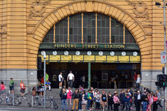 Flinders-Straßen-Station - Melbourne Lizenzfreies Stockbild