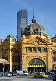Flinders Street Rail Station Front Entrance, Melbourne. Royalty Free Stock Photography
