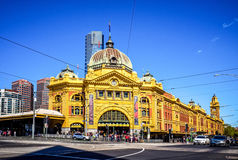 Flinders Street Railway Station Stock Photos