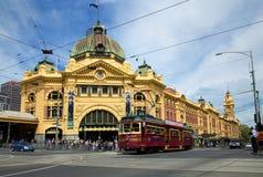 Flinders street railway station Stock Images